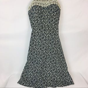R & K Originals Black and White Print Dress